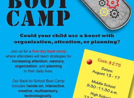 Back-to-School BOOTCAMP 2018