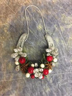 Silver horseshoe ornament