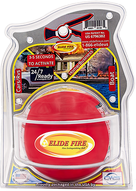 "ELIDE FIRE® Extinguishing 6"" Ball (Standard Bracket)"