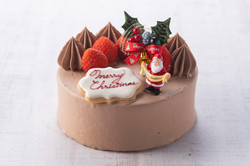 生ショコラケーキ(バナナと苺のダブルサンド)