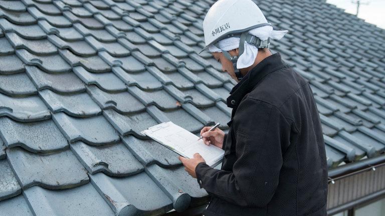 雨漏り応急処置+屋根点検