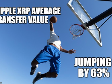 Ripple XRP Average Transfer Value Rise By 63%