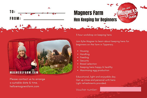 3 hour Course - Keeping hens for beginners
