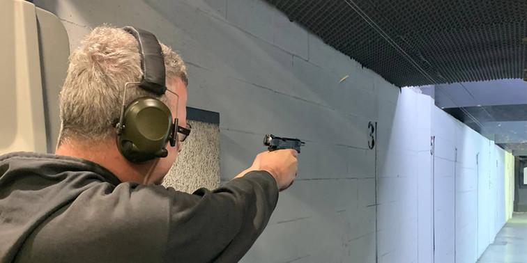 Competition at Hillcrest Inddor Pistol Club