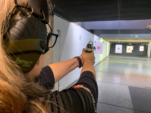 Competition at Hillcrest Indoor Pistol Club