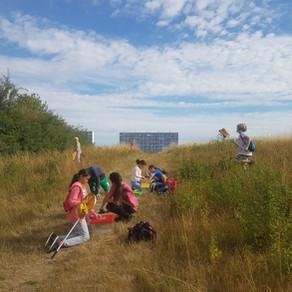 Børn brugte fiskenet, lup og alle sanser, da de var med på naturugen i Høje Gladsaxe