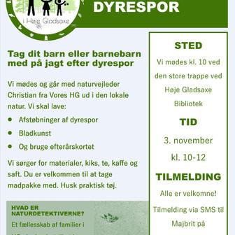 TAG MED PÅ JAGT EFTER DYRESPOR