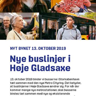 Nye buslinjer i Høje Gladsaxe