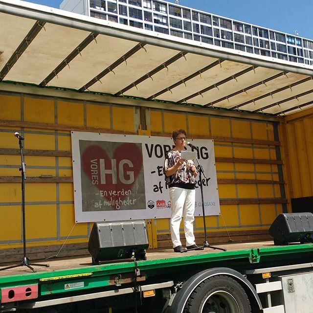 Borgmester Trine Græse indledte Markedsdagen #voreshg #gladsaxe