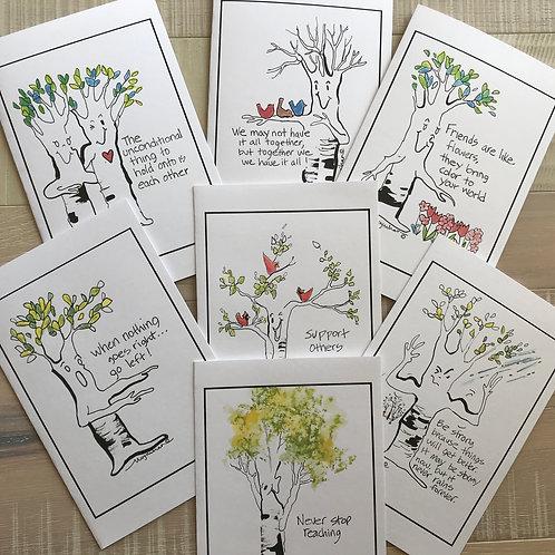Birch Banter Uplifting Notecards