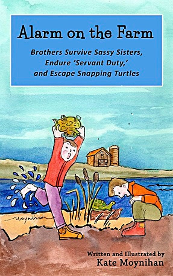 Boys in Junior Fiction Chapter Book Adventure series as brothers tangle with girls in fun family camping and Midwest stories by author artist Kate Moynihan