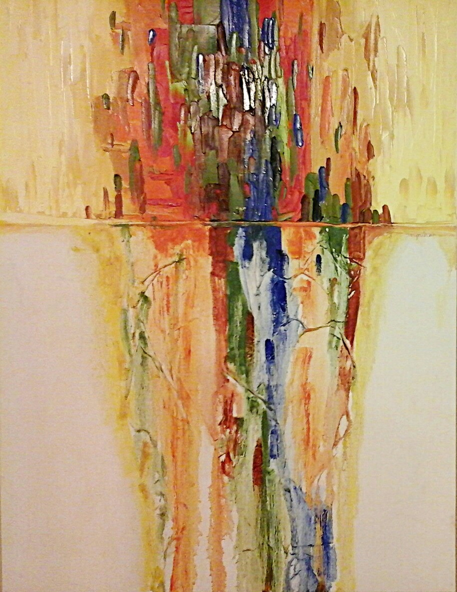 Abstract contemporary original oil by Kate Moynihan artist.
