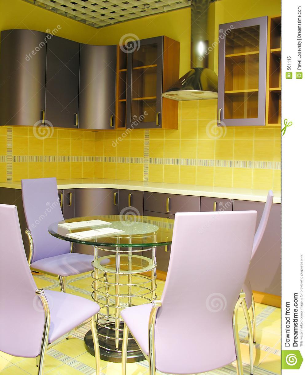 Photo courtesy of Dreamstime - yellow gray kitchen