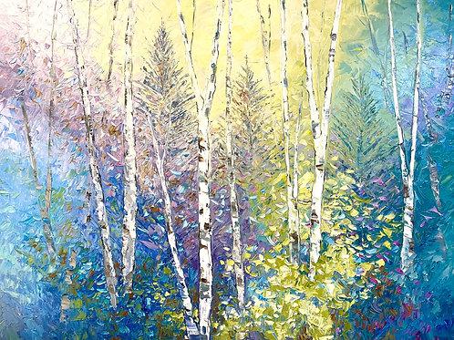 "'Heaven is Green' - 30h x 40""w canvas"