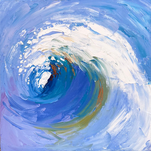 "'Dry Beach Day' 16 x 16"" - canvas"
