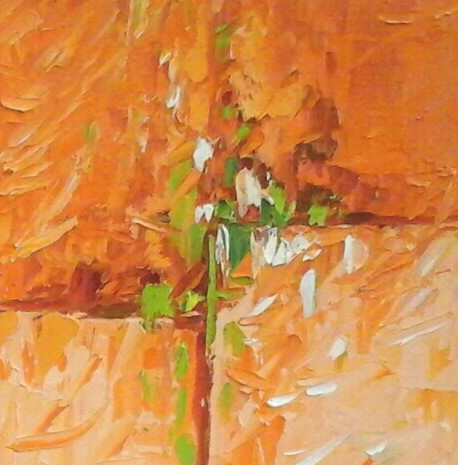 Small contemporary abstract oil painting by Kate Moynihan