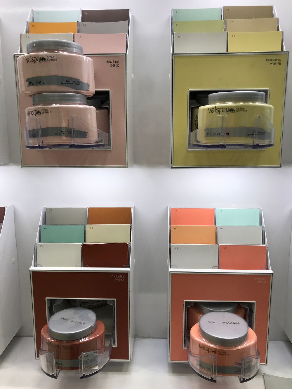Valspar paint company offers interior wall paint in grab and go testers