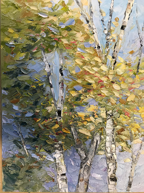 """Treetop"" - 9 x 12 framed"