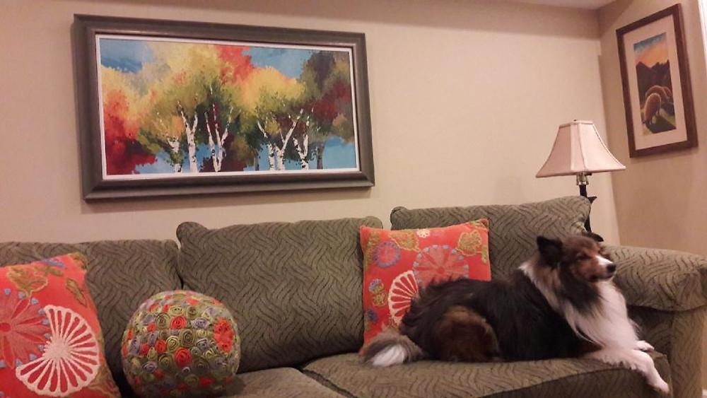 Kate Moynihan artist original oil of birch tree landscape. Custom orders taken.