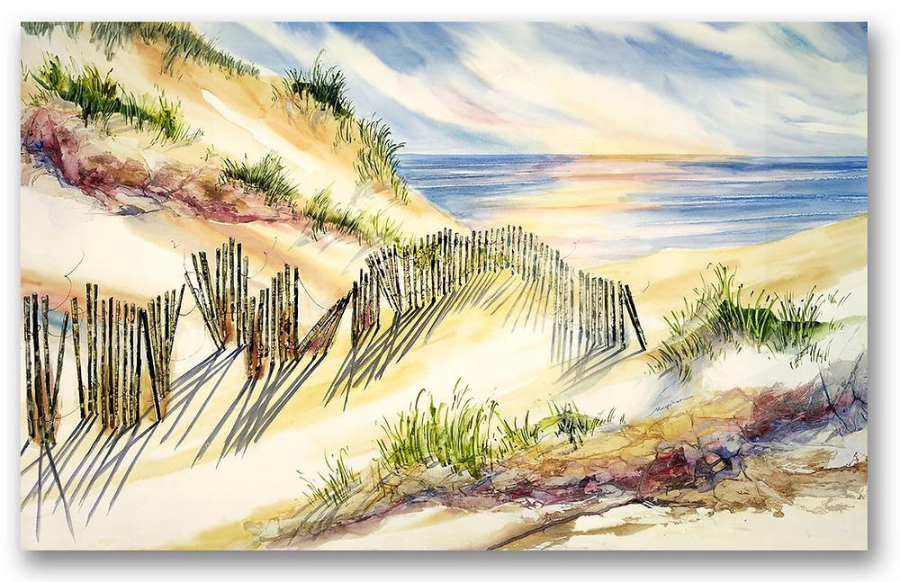 'Dune Shadows' beach shoreline Giclee print by Kate Moynihan artist
