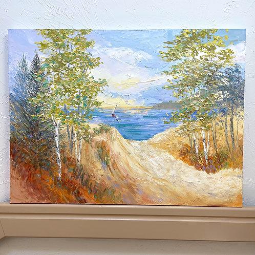 "'Singing Sand' 30h x 40w"" - canvas"