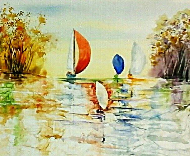 Cropped, Original watercolor by www. Kate Moynihan Artist. com