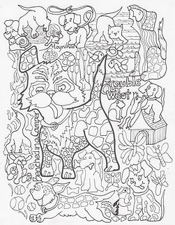 coloring_book_page_trouble_out_west_dogs