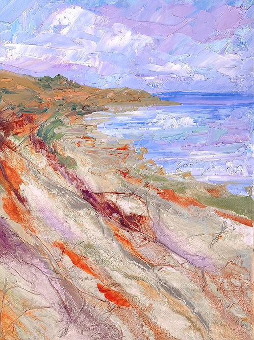 "'Shoreline Sweep' 12h x 9"" - canvas"