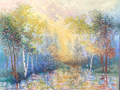 "'Afterglow' - 48w x 60h"""