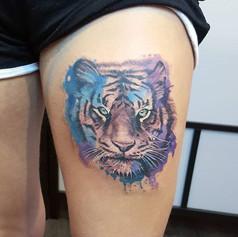 Tiger from today 🌸 #tattoo #tattooist #