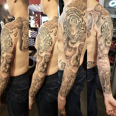Finished full sleeve, plus shoulder and