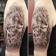 Lion and cub 🦁 done for Paul today 🌿 #