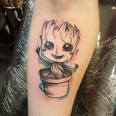 Super cute little Groot 🌱 done today fo