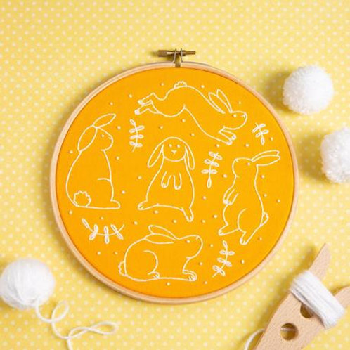 Bunnies Embroidery kit