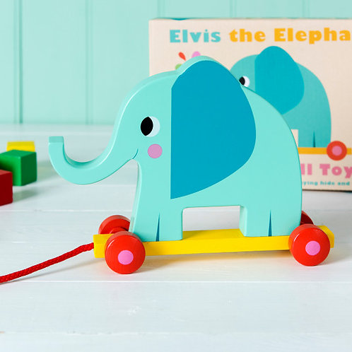 Elvis the Elephant Pull Along Toy