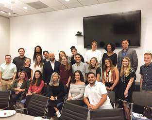 University of Arizona students and alumni who attended an internship roundtable at William Morris Endeavor hosted by Alunus WME agent Brad Slater. June 2018
