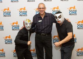 Fox Tucson Theatre's Craig Sumberg at the screening of SANTO CONTRA EL CEREBRO DEL DAL at Tucson Cine Mexico. March 2018.
