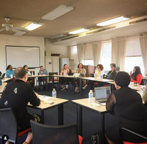 Director Maria Jose Cuevas and Dr. Laura Gutierrez (University of Texas Austin) leading a roundtable talk at UA Institute for LGBT Studies during Tucson Cine Mexico 2017.