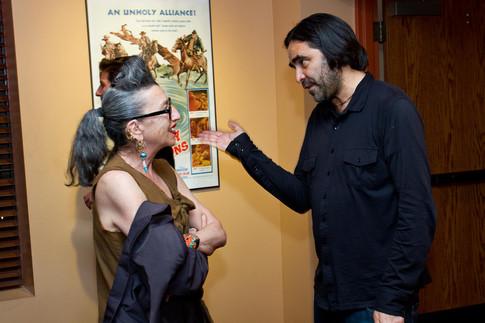 Photographer Henny Garfunkel talks with Director Carlos Bolado at the Tucson Cine Mexico 2013 Reception. March 2013
