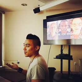 Filmmaker PJ Raval presenting a workshop on Documentary Cinematography and Point of View presented by DocScapes. November 2nd, 2018