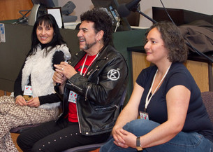 Tucson Cine Mexico 2012 with Yareli Arizmendi, Sergio Arau, and Laura Gutierrez after a screening of NACO ES CHIDO. March 2012