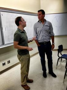 Producer Scott Stuber visits Professor Dr. Brad Schauer's Film & TV class. 2019