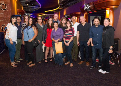 Happy Tucson Cine Mexico festival directors and committee members with the director of La Delgada Línea Amarilla. 2016