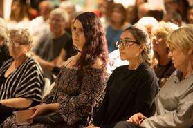Second from left Institute Intern, Film & Television student Linda Varela at Tucson Cine Mexico. 2019
