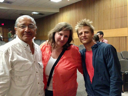 Institute committee members Mike Wilson, Susan Ruff, with Director Marc Silver after the screening of WHO IS DAYANI CRISTAL? 2013