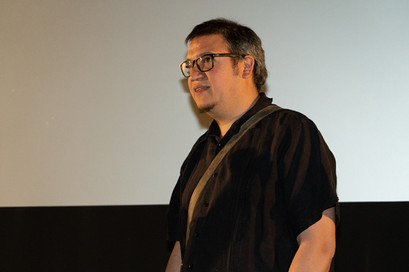 Producer/Director/Writer/Cinematographer Carlos Rossini during Tucson Cine Mexico 2019.