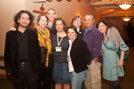 Tucson Cine Mexico Director Vicky Westover, Committee Members Lara Gutierrez, Erica Franco, Susan Ruff, Mike Wilson (Tohono O'odham), with Producer Martha Sosa at Tucson Cine Mexico. 2011