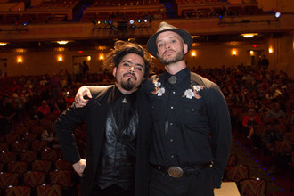 Adam Cooper-Terán and Logan Phillips aka DJ Dirtyverbs created the foot-stomping pre-show music and visuals at SANTO CONTRA EL CEREBRO DEL MAL for Tucson Cine Mexico. March 2018