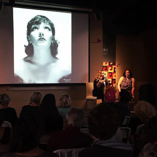 A special night for the opening event of Tucson Cine Mexico 2017. María José Cuevas and Laura Gutiérrez shared archival images of Mexican showgirls through the last century, and insight into their glorious art form. At the Tucson Museum of Art. March 2017