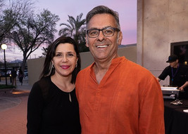 Linda Portillo and Arizona Daily Star's Ernesto Portillo Jr. during Tucson Cine Mexico 2019 Party. March 2019
